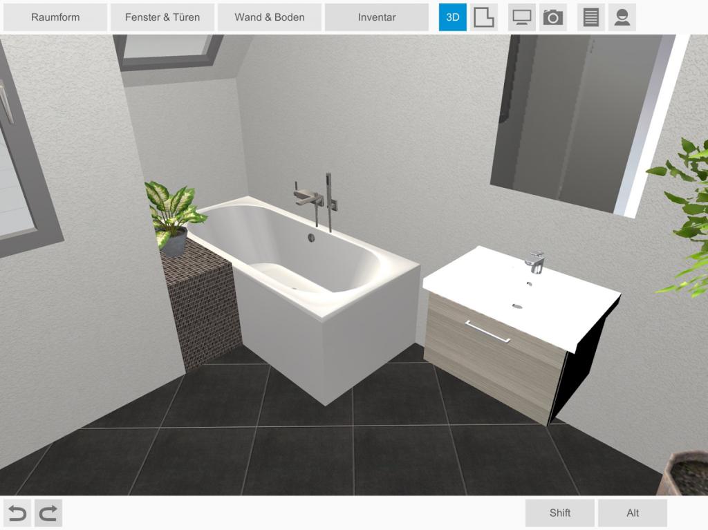 bad 3d planung berisha sanit re anlagen. Black Bedroom Furniture Sets. Home Design Ideas
